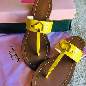 BRAND NEW Kate Spade Yellow Summer Sandals